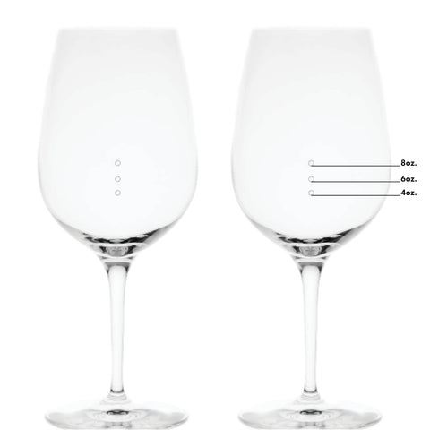 XL Elegance Premium Measuring Wine Glass With Measuring Marks