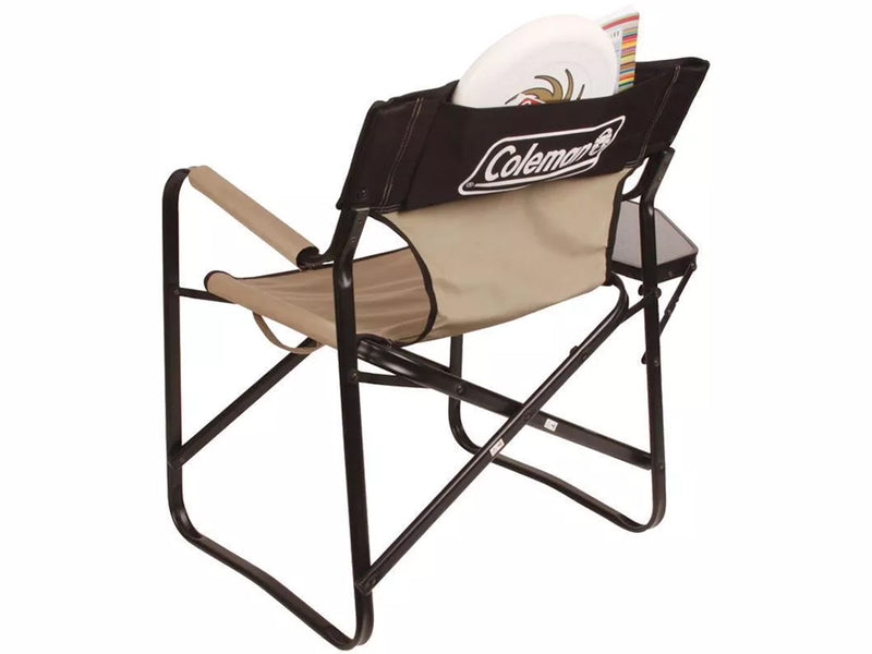 Coleman Directors Plus Steel Chair with Side Table