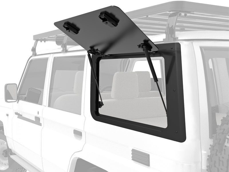 FRONT RUNNER GULLWING WINDOW FOR TOYOTA LAND CRUISER 70 / LEFT HAND SIDE ALUMINIUM