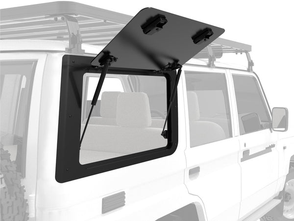 FRONT RUNNER GULLWING WINDOW FOR TOYOTA LAND CRUISER 70 / RIGHT HAND SIDE ALUMINIUM