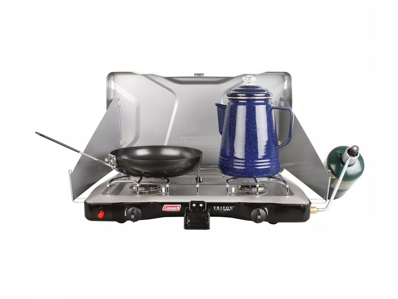 Triton 2 Burner EI Stove with Hose - By Coleman