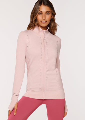 Flow Seamless Jacket (Dusty Rose Marl)