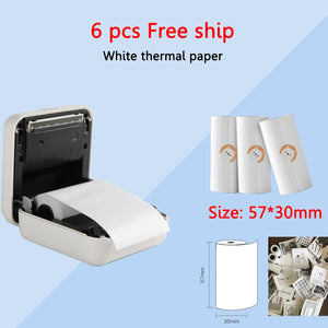 6x Rolls of white paper