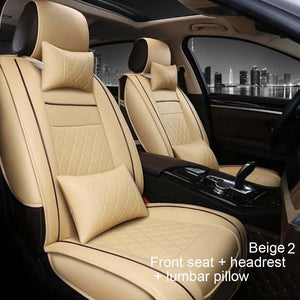 Astonishing All Inclusive Leather Car Seat Four Seasons Universal Car Seat Cover Front And Rear Seat Neck Lumbar Pillow Gamerscity Chair Design For Home Gamerscityorg