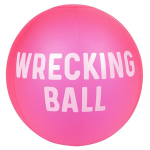 Inflatable Beach Ball Neon Pink Large