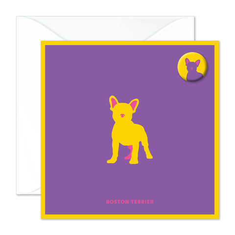 Boston Terrier badge card