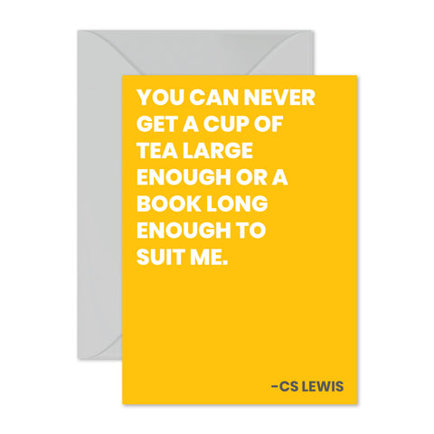 "CS Lewis - ""You can never get..."""
