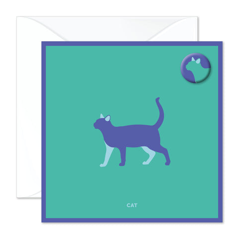 Cat badge card