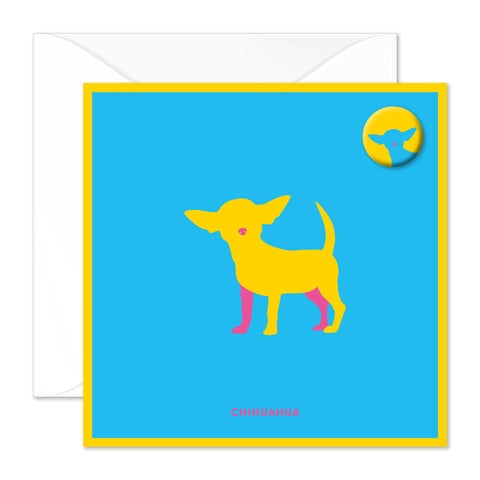 Chihuahua badge card
