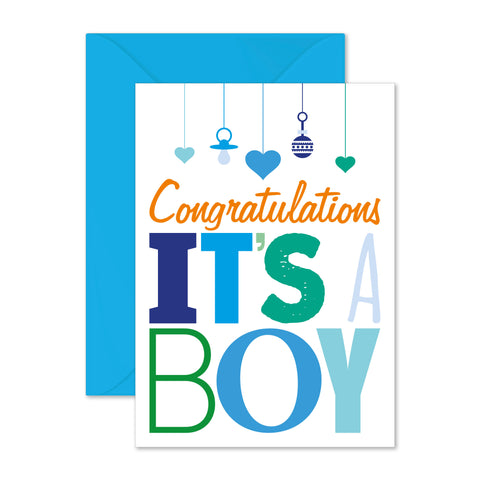 Congratulations: it's a boy!