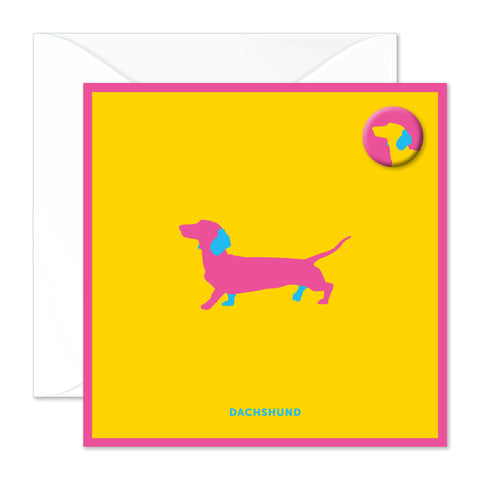 Dachshund badge card