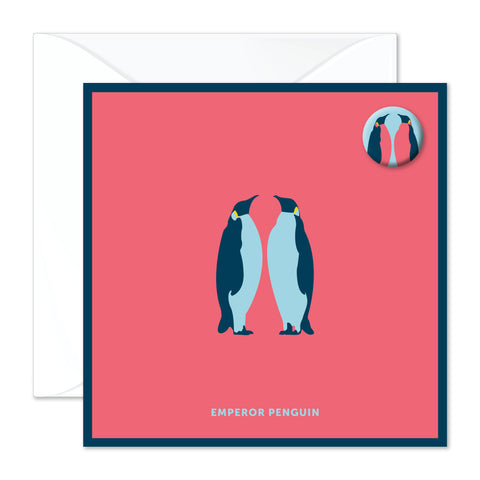 Emperor Penguin badge card