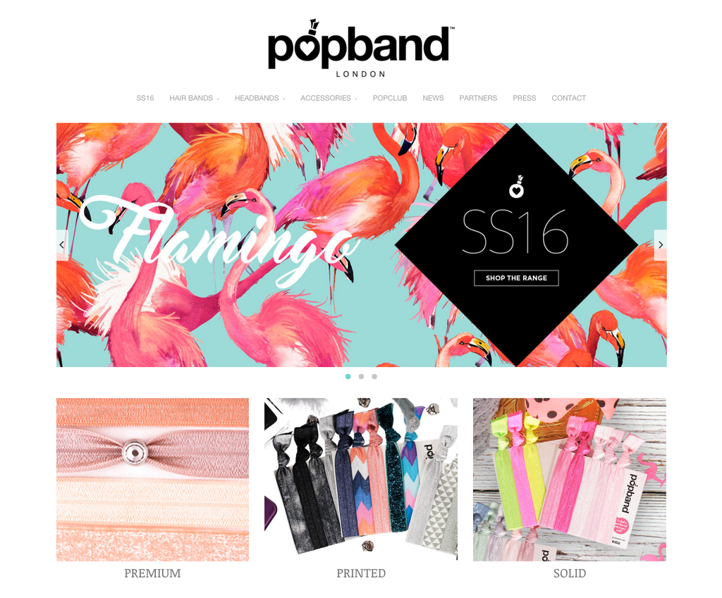 New Popband Website & SS16