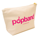 Festival Survival | Popband Hair Band & Beauty Bag Set | Canvas Beauty Bag with Pink Logo