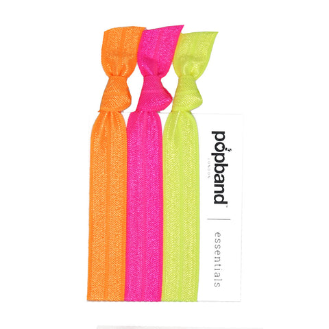 Neon Popband Essentials | Neon Orange, Pink & Green Hair Bands
