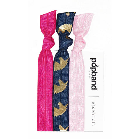 Unicorn Popband Essentials | Pink & Navy Blue Unicorn Print Hair Bands