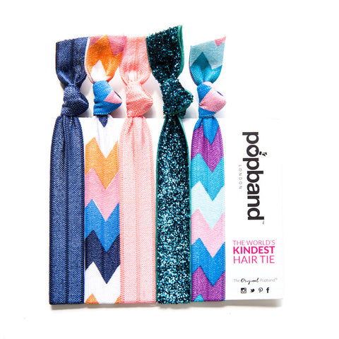 Allegra | Printed Popband Hair Bands | Retro Italian Print Hair Ties