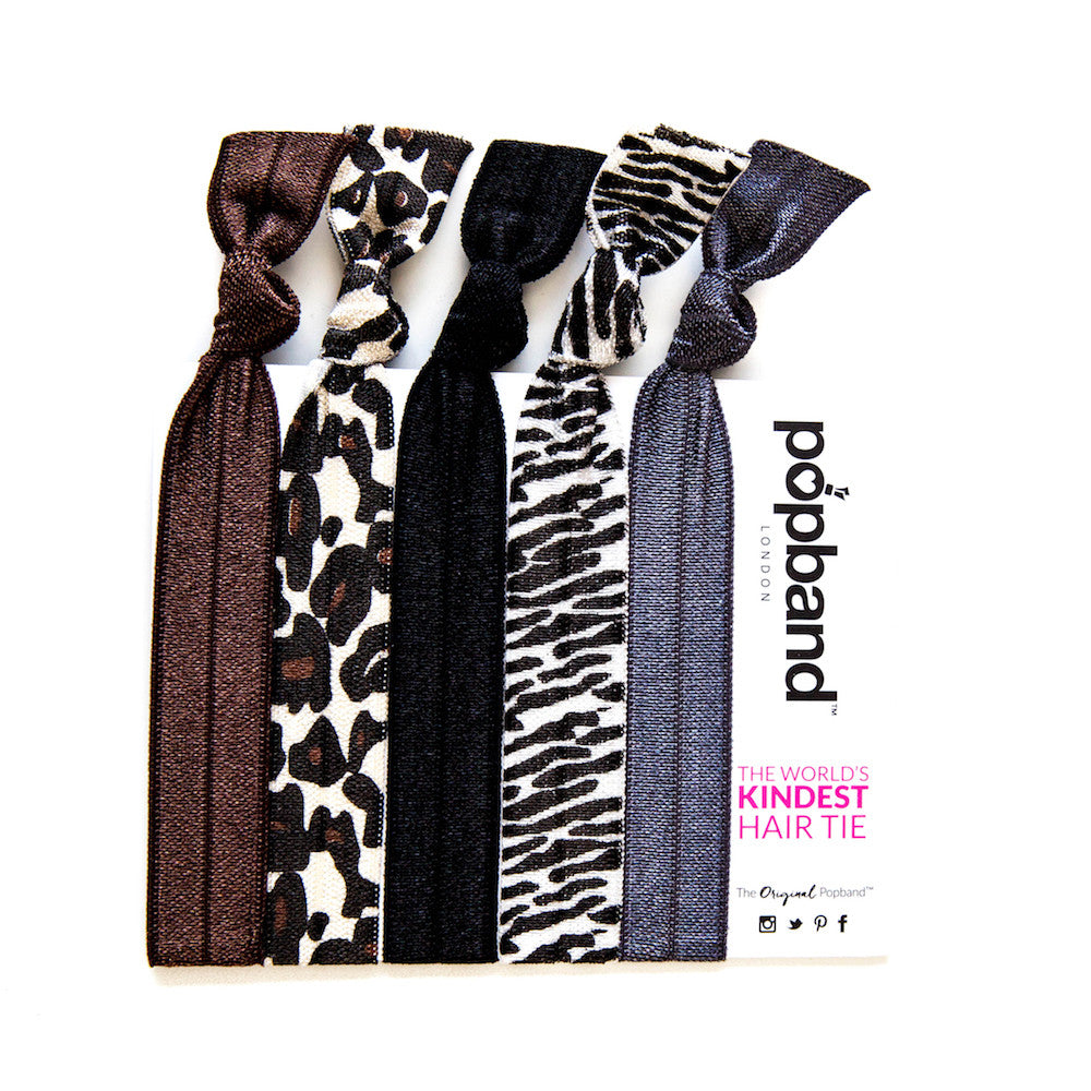 Animal | Printed Popband Hair Bands | Cheetah & Zebra Print Hair Ties