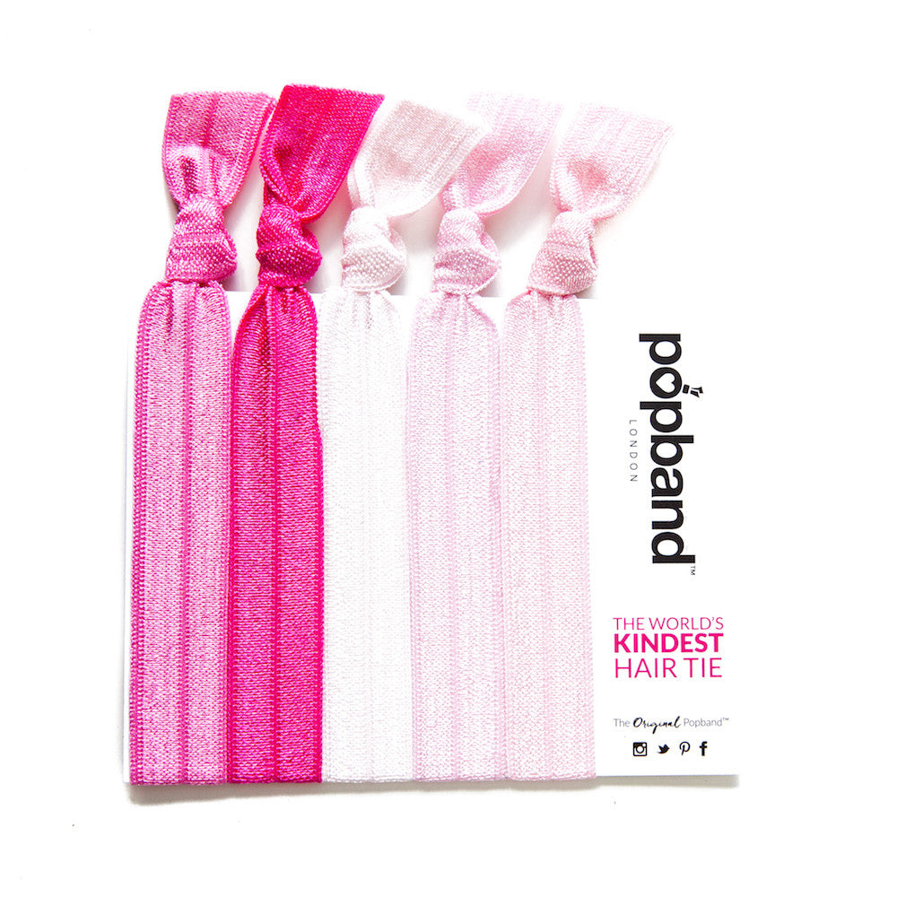 Amazing Bubble Gum | Solid Colour Popband Hair Bands | Hair Ties In Various Shades  Of Pink