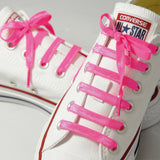 Neon Pink Poplaces | Shoe Laces | In-Shoe | Converse