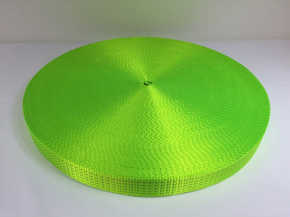 Webbing 50mm 5ton Hi Vis Green - Damar Webbing Solutions Ltd