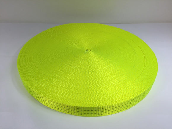 Webbing 50mm 5ton Hi Vis Yellow - Damar Webbing Solutions Ltd