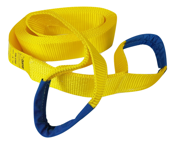 Tow strap 10 ton 2 mtr Heavy Duty - Damar Webbing Solutions Ltd