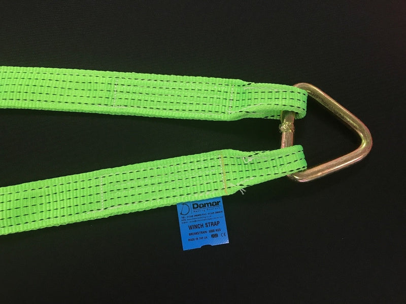 Large hook winch brother recovery strap - Damar Webbing Solutions Ltd