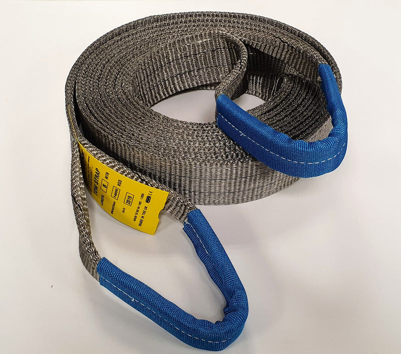 Tow Strap 14 Ton Heavy Duty 6mtr - Damar Webbing Solutions Ltd
