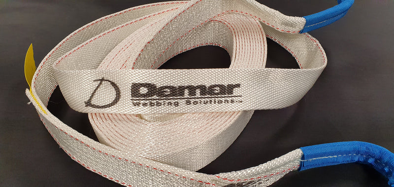 Kinetic Snatch Tow strap 8000kgs - Damar Webbing Solutions Ltd