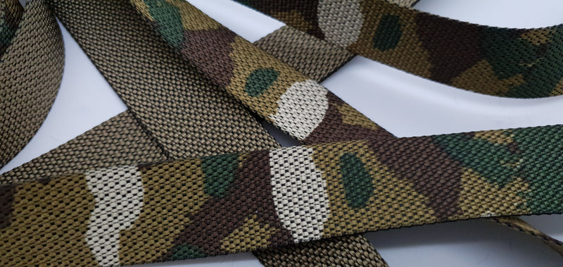 Camo Cam buckle tie down straps endless (Choose length) - Damar Webbing Solutions Ltd