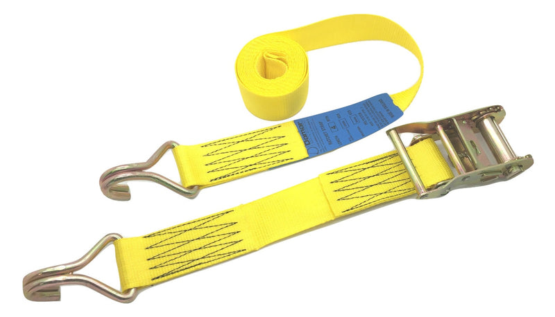 Ratchet strap 2000kgs 6mtr Claw Hooks - Damar Webbing Solutions Ltd