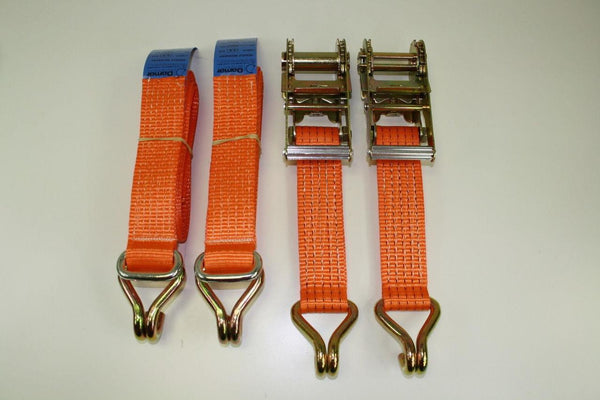 2 X UNIVERSAL RECOVERY RATCHET STRAPS TRAILER 5TON - Damar Webbing Solutions Ltd