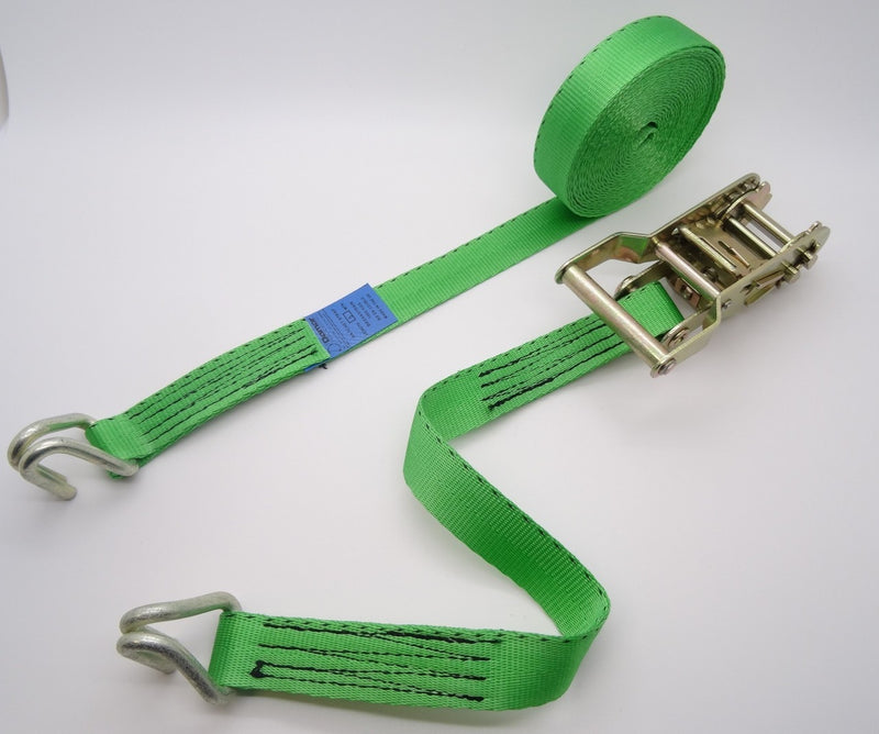 Ratchet strap 1.5ton 3mtr Claw Hooks - Damar Webbing Solutions Ltd