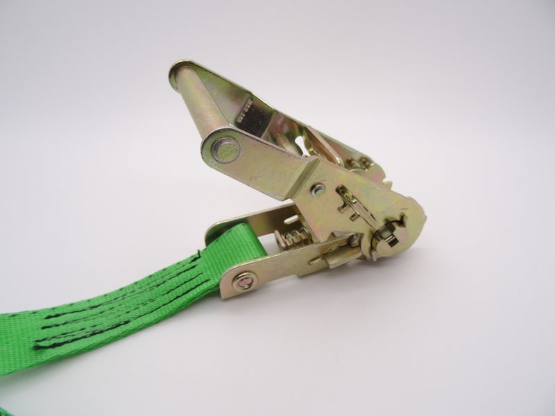 Ratchet strap 1.5ton 4mtr Claw Hooks - Damar Webbing Solutions Ltd