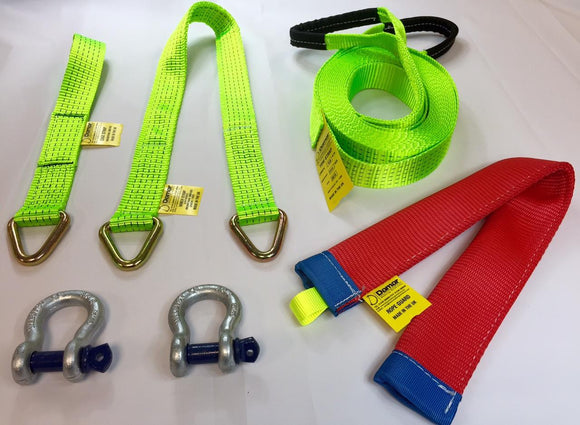 Competition Winch Strap Kit - Damar Webbing Solutions Ltd