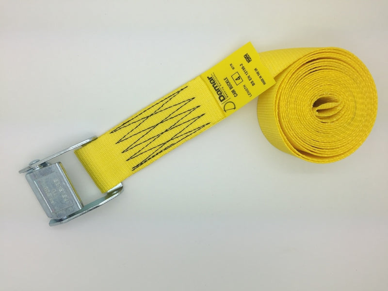 Cam buckle tie down straps 50mm wide 8mtr long - Damar Webbing Solutions Ltd