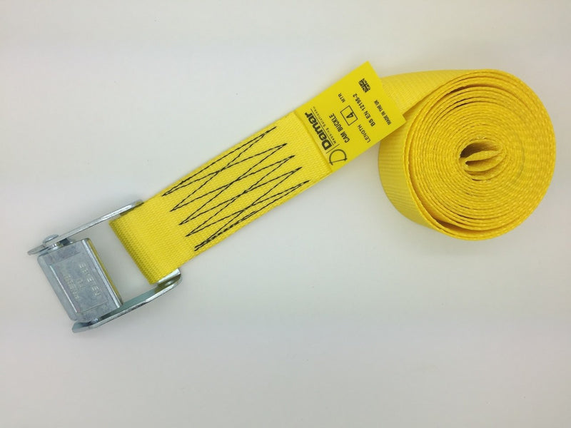 Cam buckle tie down straps 50mm wide 6mtr long - Damar Webbing Solutions Ltd