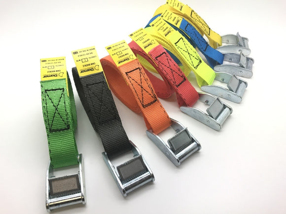 Cam buckle tie down straps - Damar Webbing Solutions Ltd