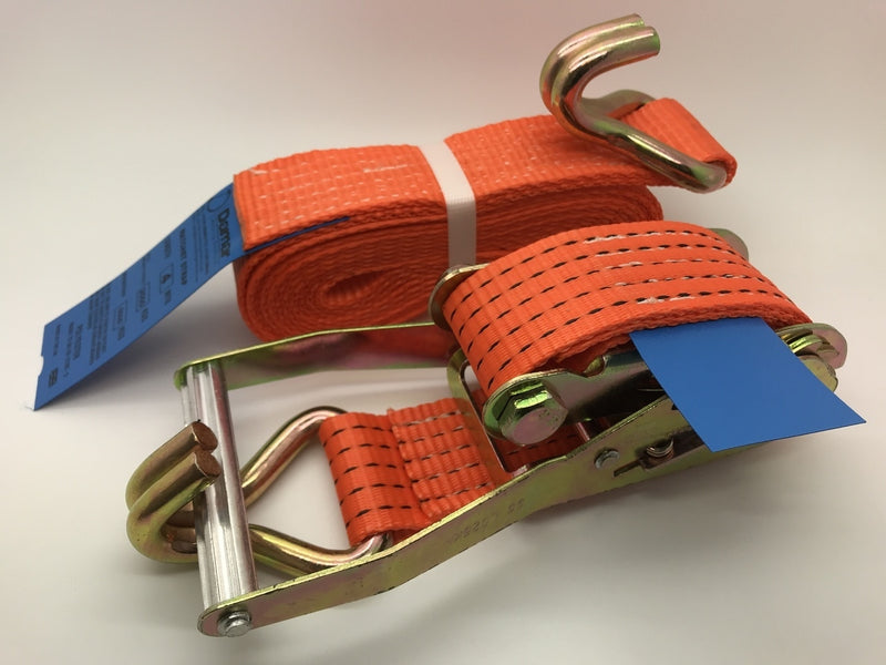Ratchet Straps 5ton (5000kgs) x 50mm x 3mtr - Damar Webbing Solutions Ltd