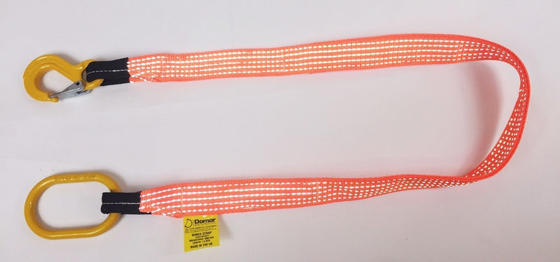 Quick Strop Winch Strap Lightweight Hook and Ring 2mtr - Damar Webbing Solutions Ltd