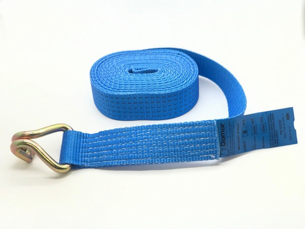Ratchet straps 5ton long ends only 5000kgs with claw hooks - Damar Webbing Solutions Ltd