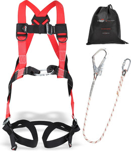 Safety Harness kit for Cherry picker with scaffold hook working at height - Damar Webbing Solutions Ltd