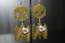 Load image into Gallery viewer, Ass Hole Skeleton body Earrings By Unforgettable Resin