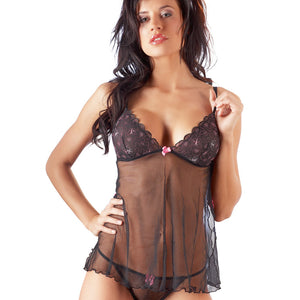 Cottelli Collection Black Babydoll And String