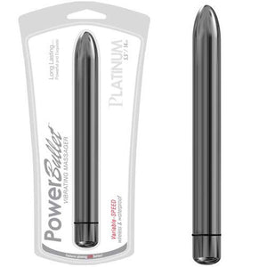 Power Bullet Platinum Silver 5.5 Inches