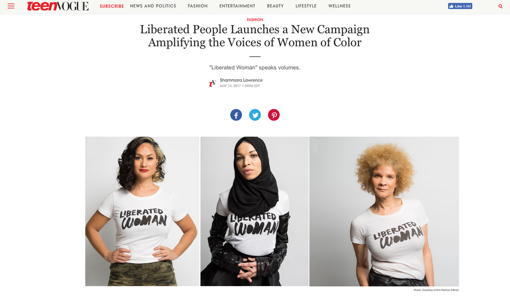 Teen Vogue - Liberated People Launches a New Campaign Amplifying the Voices of Women of Color