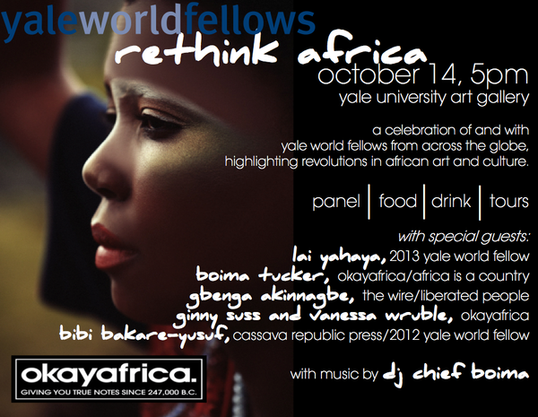 Yale World Fellows: Rethink Africa - Liberated People's Gbenga Akinnagbe to sit on panel discussion