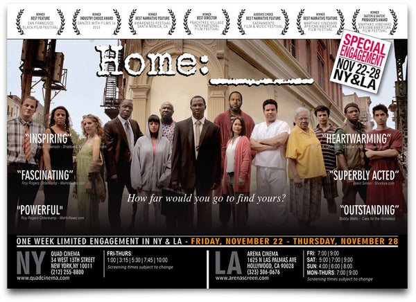 Home, starring Gbenga Akinnagbe premieres in NYC and LA from November 22-28th