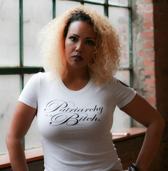 """Patriarchy is a Bitch"" Tee - Liberated People will donate $5 to Black Women's Blueprint"